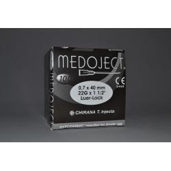 Injekční jehla černá sterilní 0,70x40mm STERI•INJECT